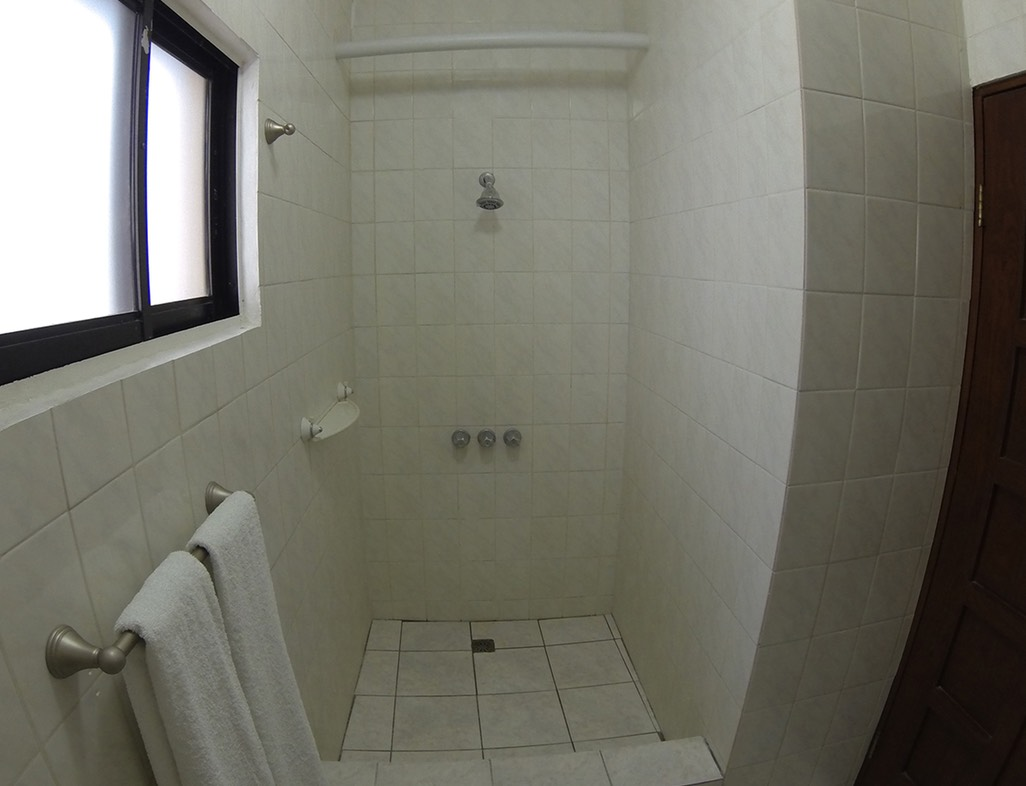 Go-Pro picture of shower area